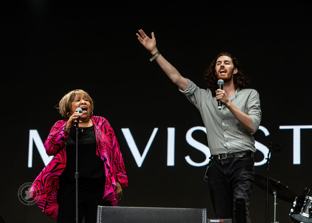Mavis Staples and Hozier on stage at Electric Picnic, Ireland 2018